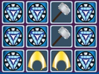 Super hero Logos Memory Match