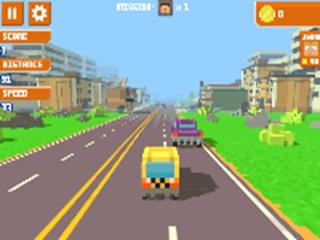 Pixel Road Taxi Depot