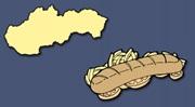Čo znázorňujú obrysy jednotlivých európskych krajín? Čo pripomína Slovensko?