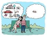 Muž a žena na lavičke...