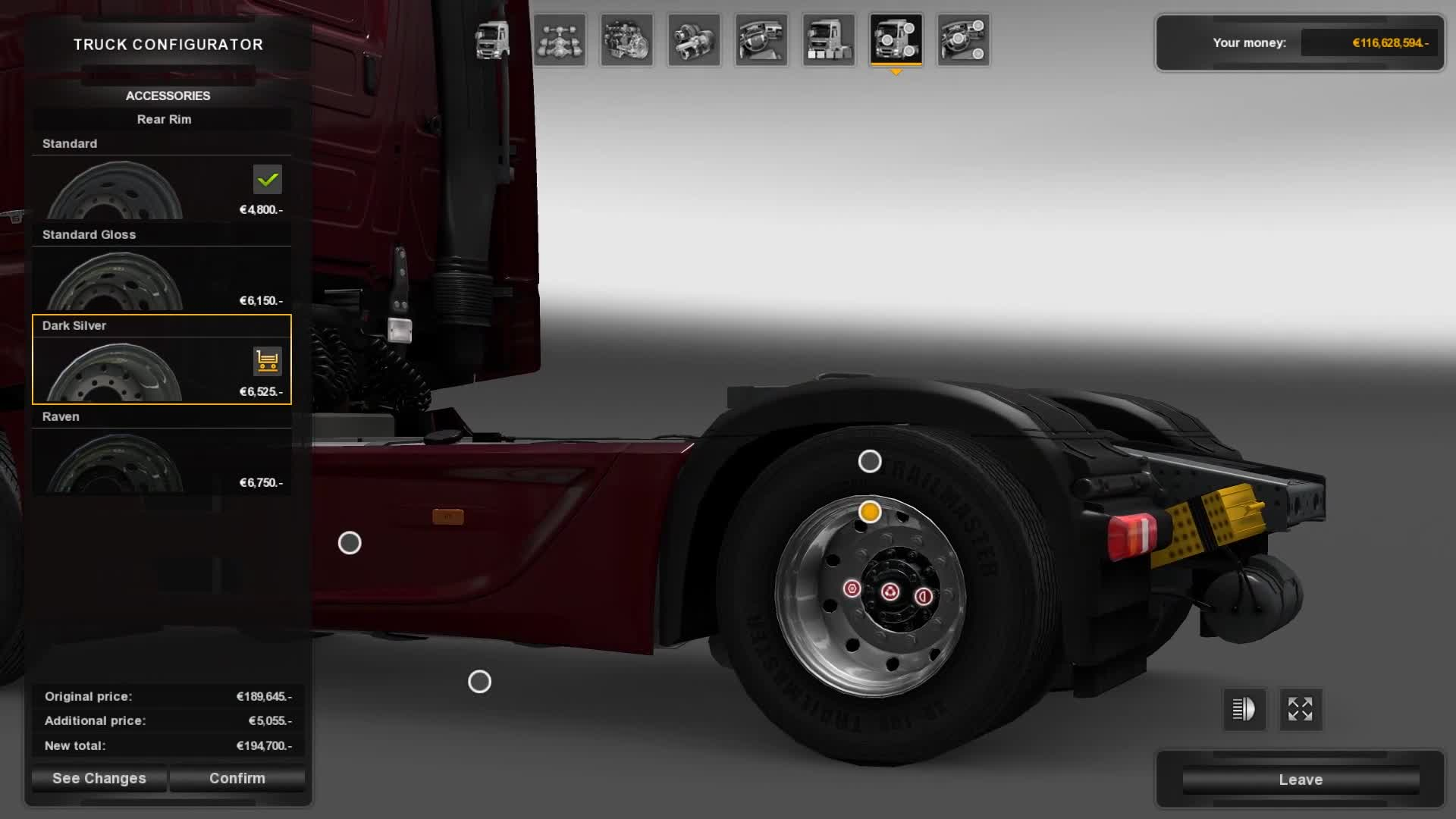 American/Euro Truck Simulator - Wheels customization