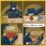 Batman pripravuje hallowensky darček pre Supermana