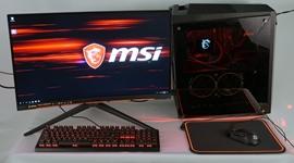 MSI Infinite X desktop + MSI Optix monitor